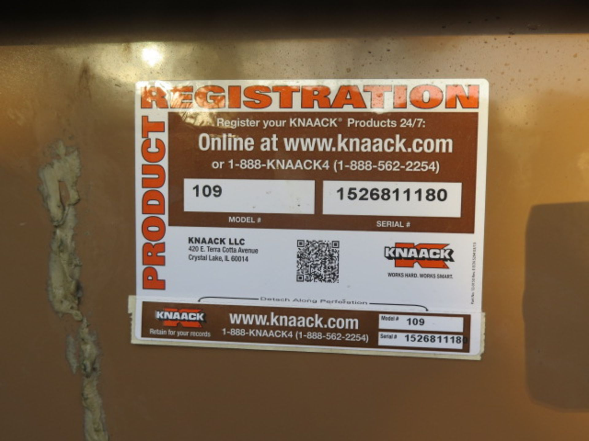 Knaack 109 Jobmaster Rolling Job Box w/ Safety Supplies (SOLD AS-IS - NO WARRANTY) - Image 19 of 19