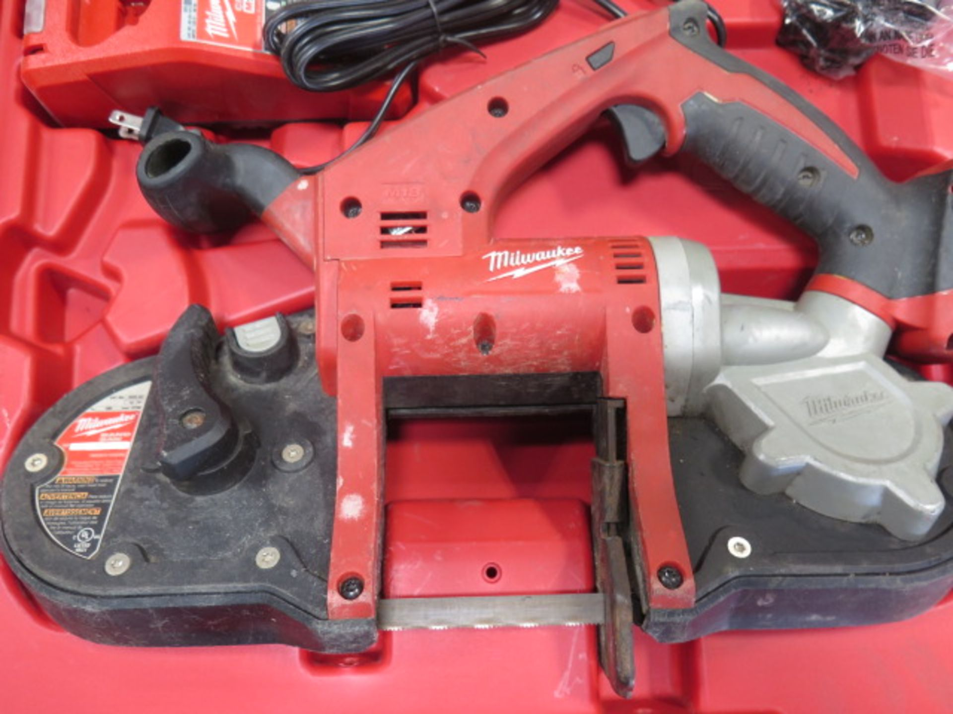 Milwaukee 18 Volt Compact Portable Band Saw Sets (2) (SOLD AS-IS - NO WARRANTY) - Image 4 of 10