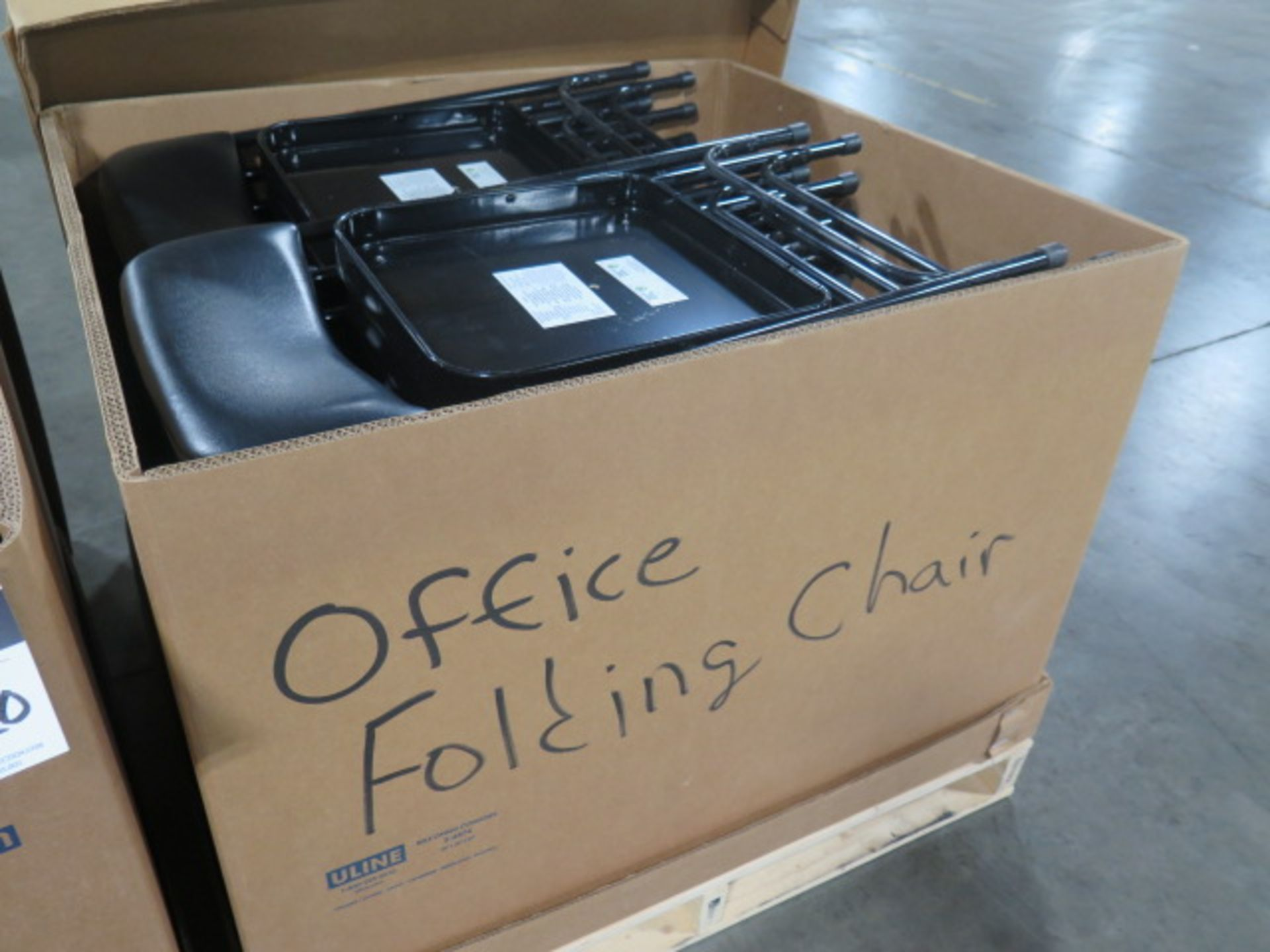 Office Folding Chairs - Black - Padded (2 Crates) (SOLD AS-IS - NO WARRANTY) - Image 5 of 9