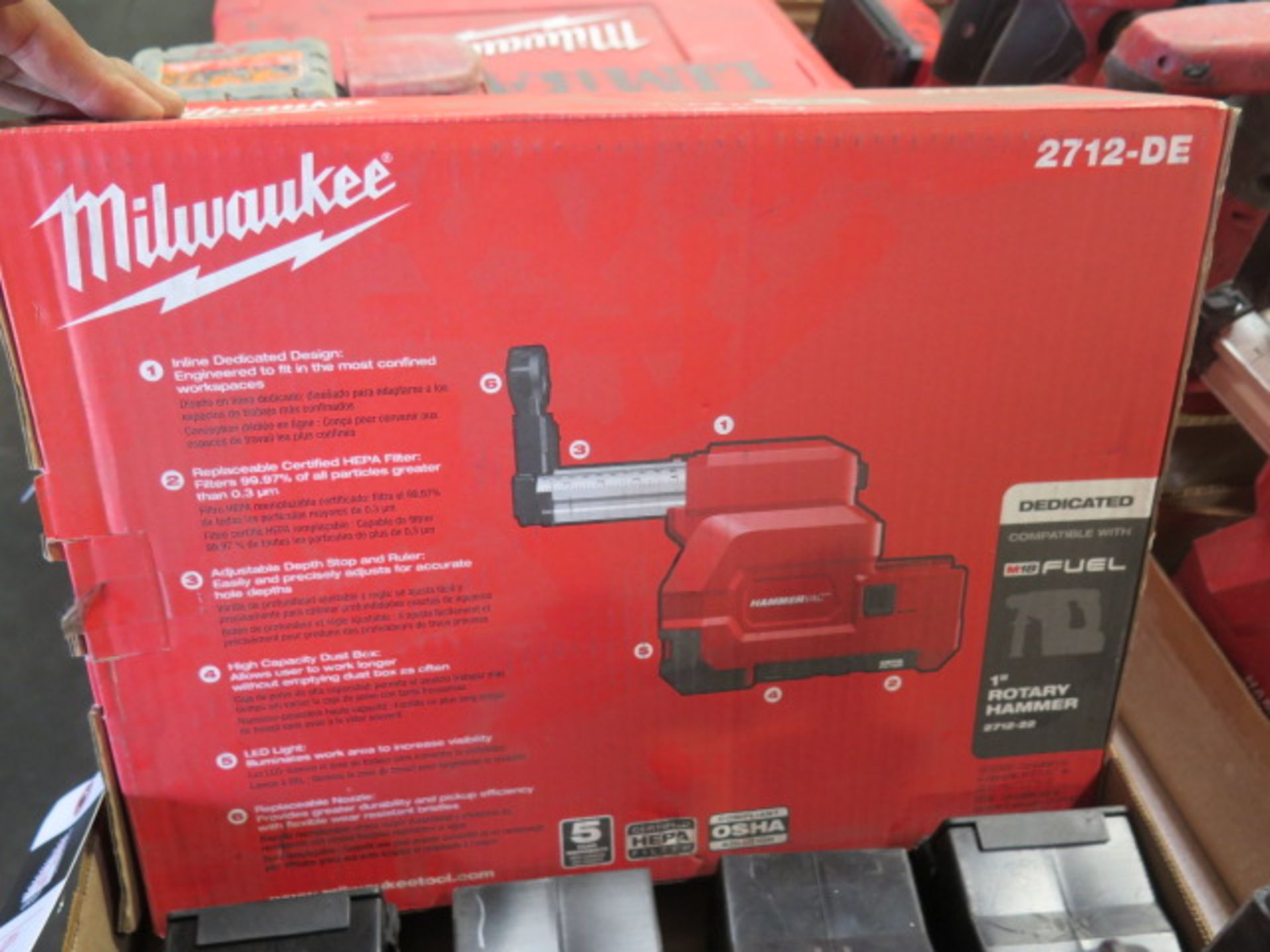 Milwaukee Dust Extractor (NEW) and (4) Filter Boxes (SOLD AS-IS - NO WARRANTY) - Image 4 of 4