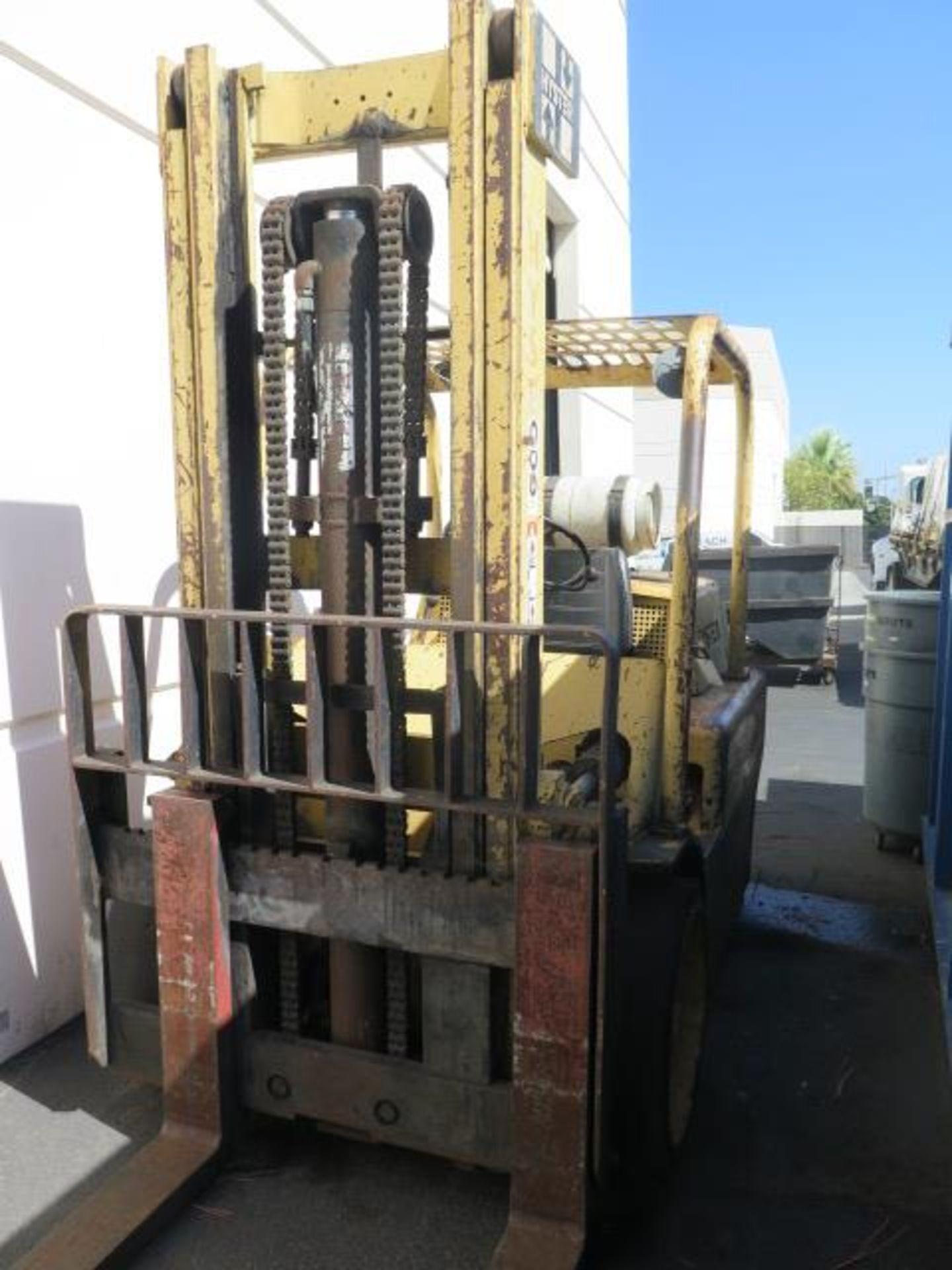 """Hyster S125A 12,500 Lb Cap LPG Forklift s/n A024DC4389A w/ 2-Stage Mast, 129"""" Lift Height, 2-Speed T"""