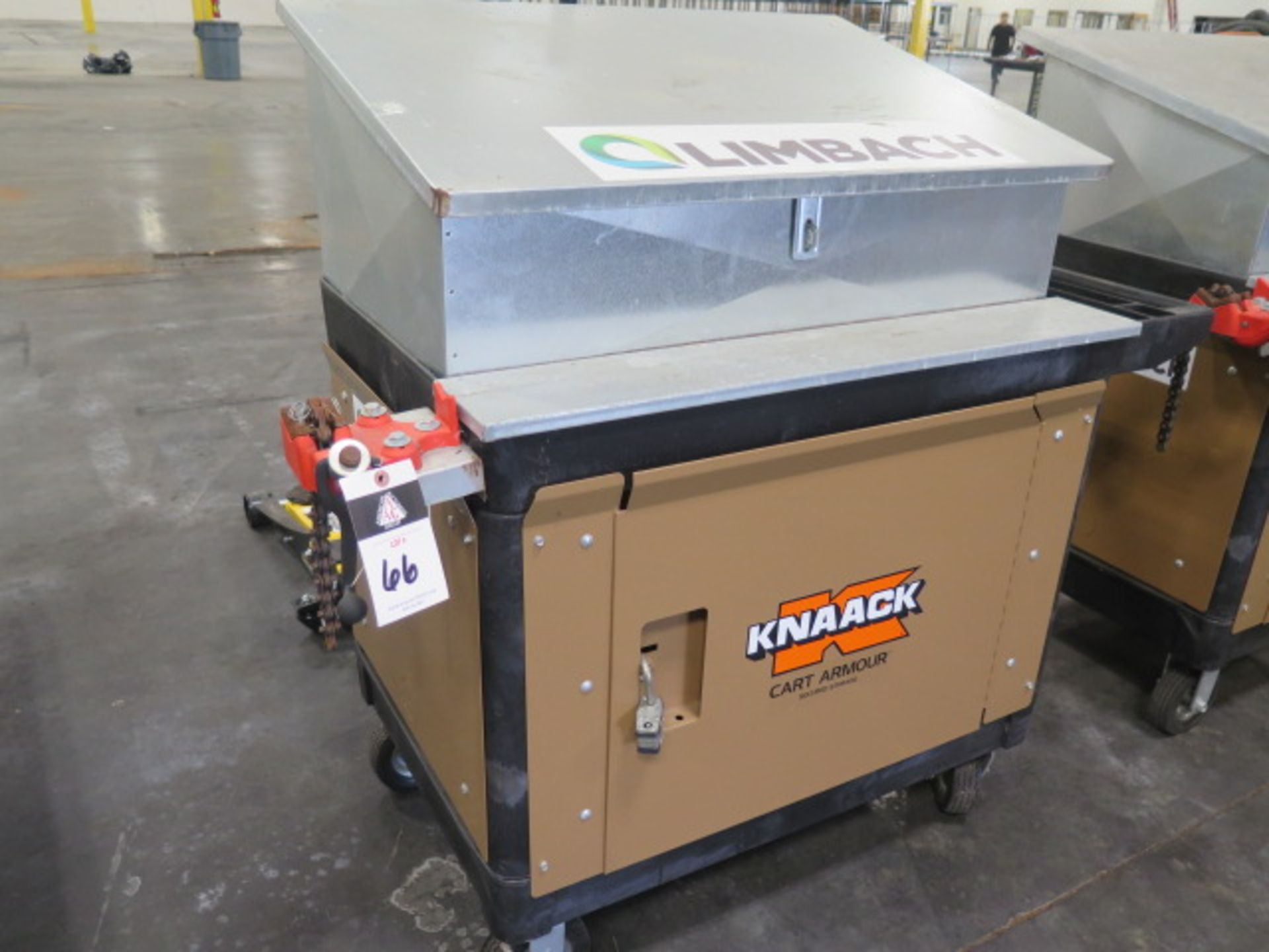 """Knaack """"Cart Armour"""" Job Cart w/ Top Box and Ridgid Pipe Vise (SOLD AS-IS - NO WARRANTY) - Image 2 of 7"""