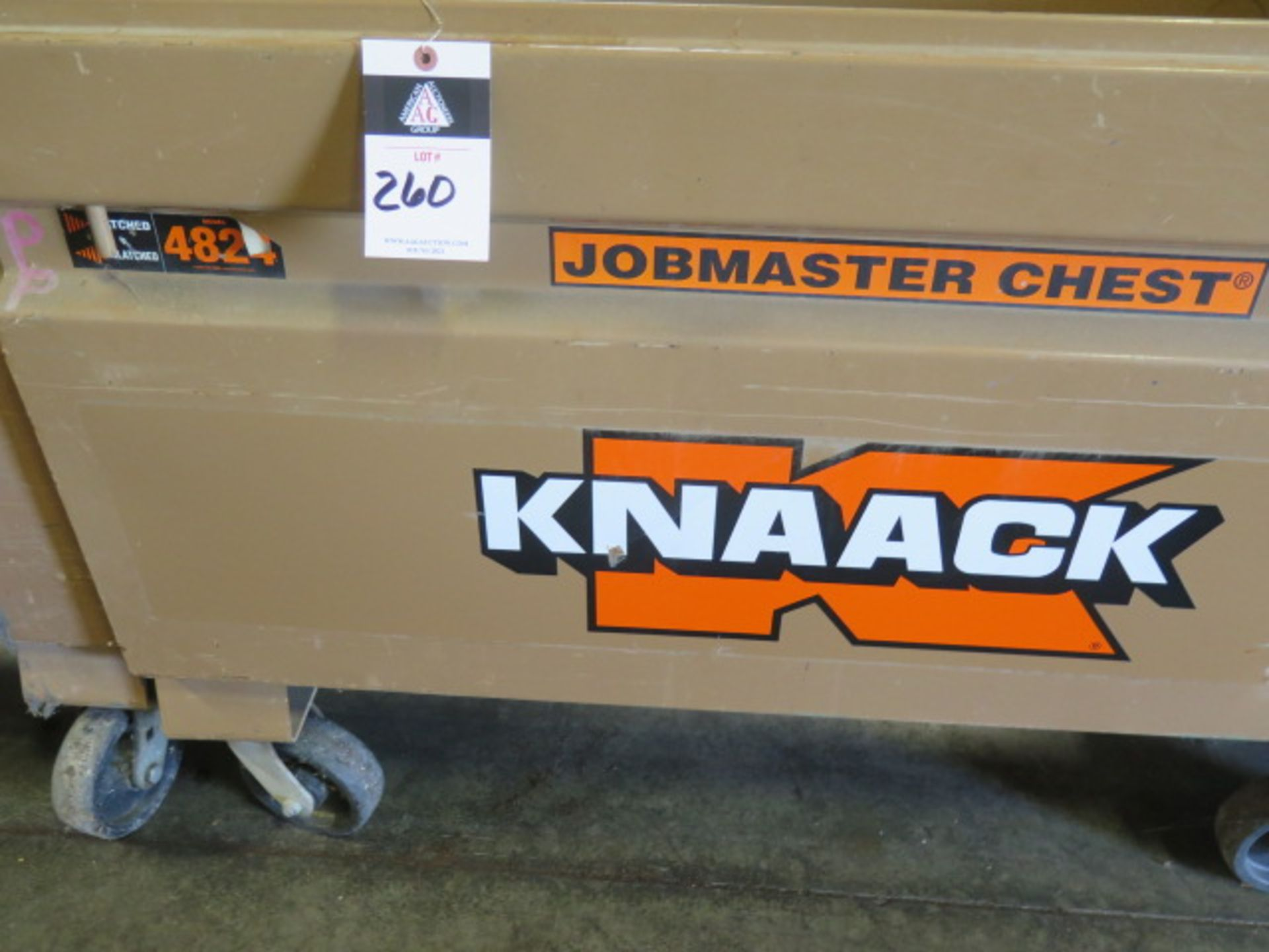 Knaack 4824 Rolling Job Box w/ 240V Extension Cords (SOLD AS-IS - NO WARRANTY) - Image 2 of 7