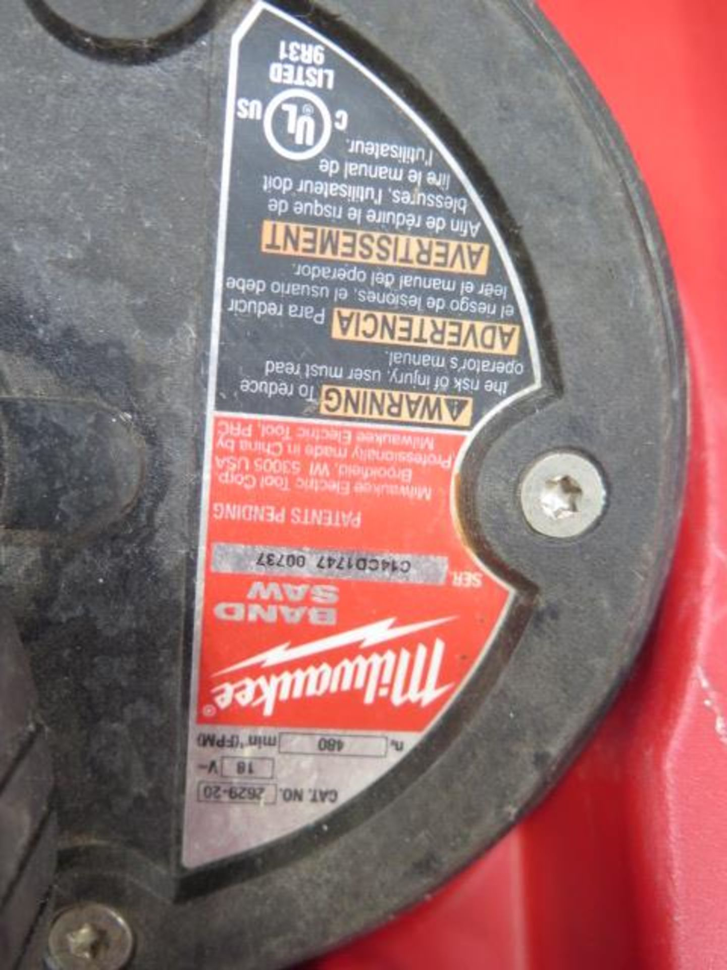 Milwaukee 18 Volt Compact Portable Band Saw Sets (2) (SOLD AS-IS - NO WARRANTY) - Image 6 of 10