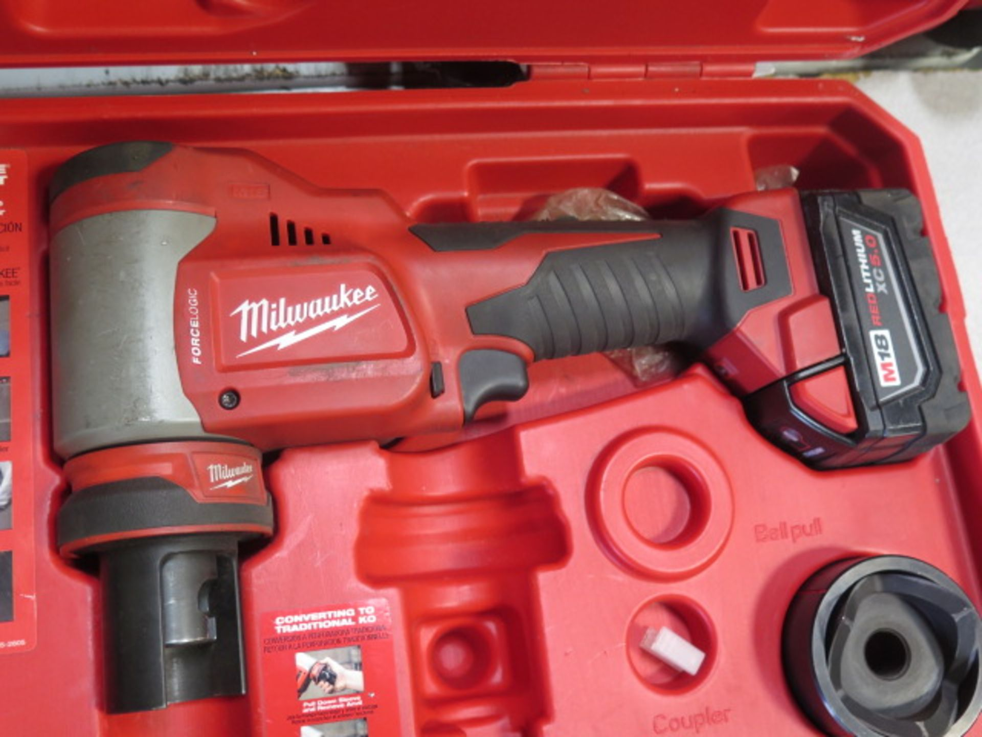 Milwaukee 18 Volt 10-Ton Knockout Tool Punch Set (SOLD AS-IS - NO WARRANTY) - Image 3 of 6