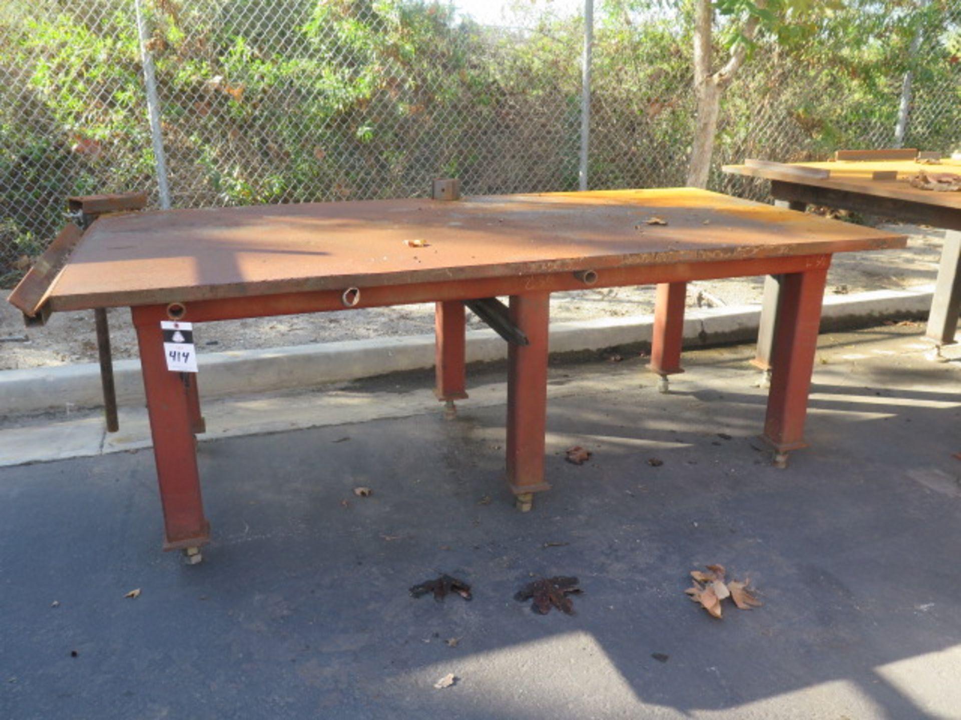 """4' x 8' x 1 1/2"""" Steel Welding Table (SOLD AS-IS - NO WARRANTY)"""