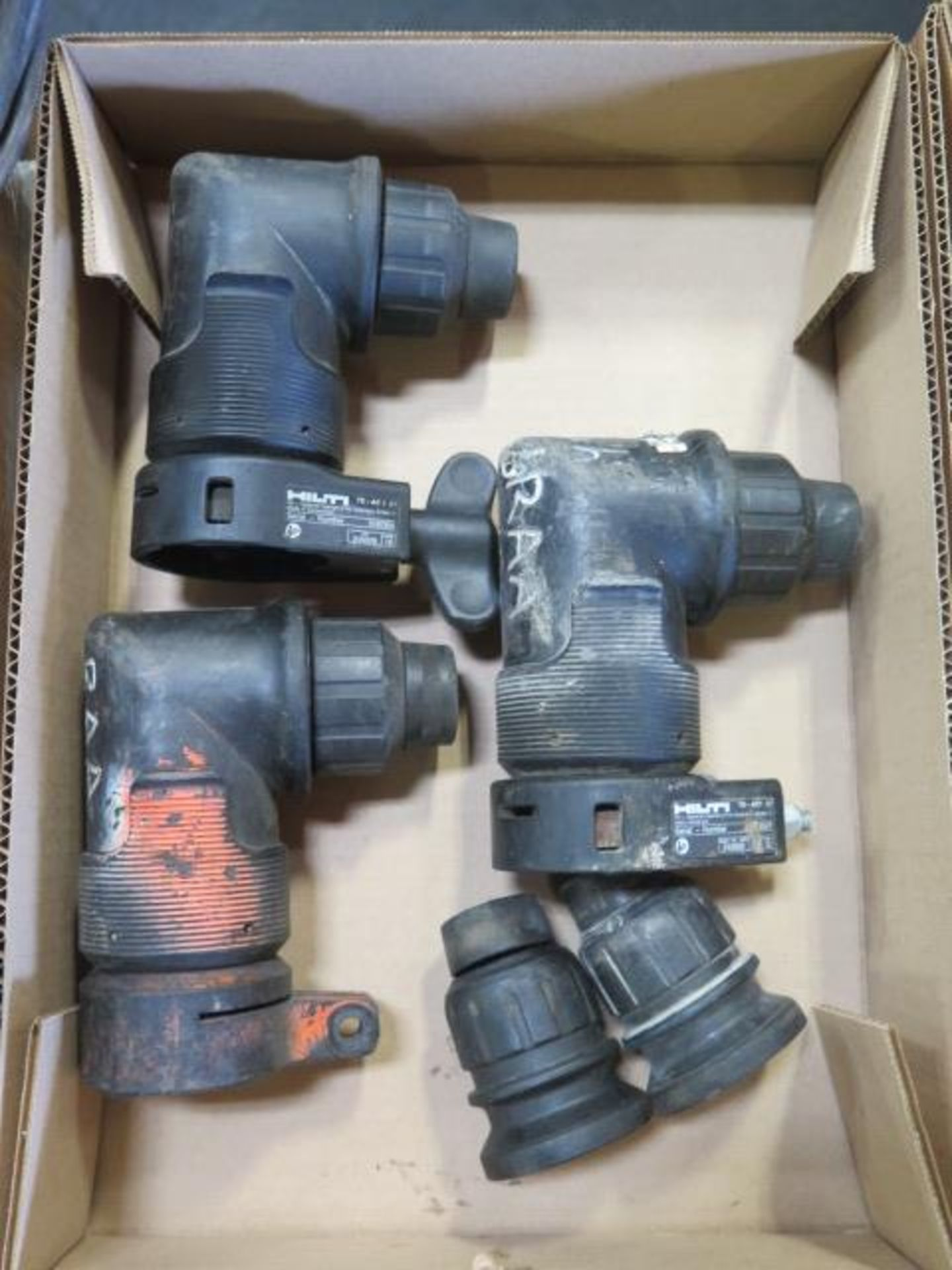 Hilti Interchangable Right Angle Chuck Heads (3) and (2) Straight Chuck Heads (FOR TE30 and TE7 - Image 2 of 6