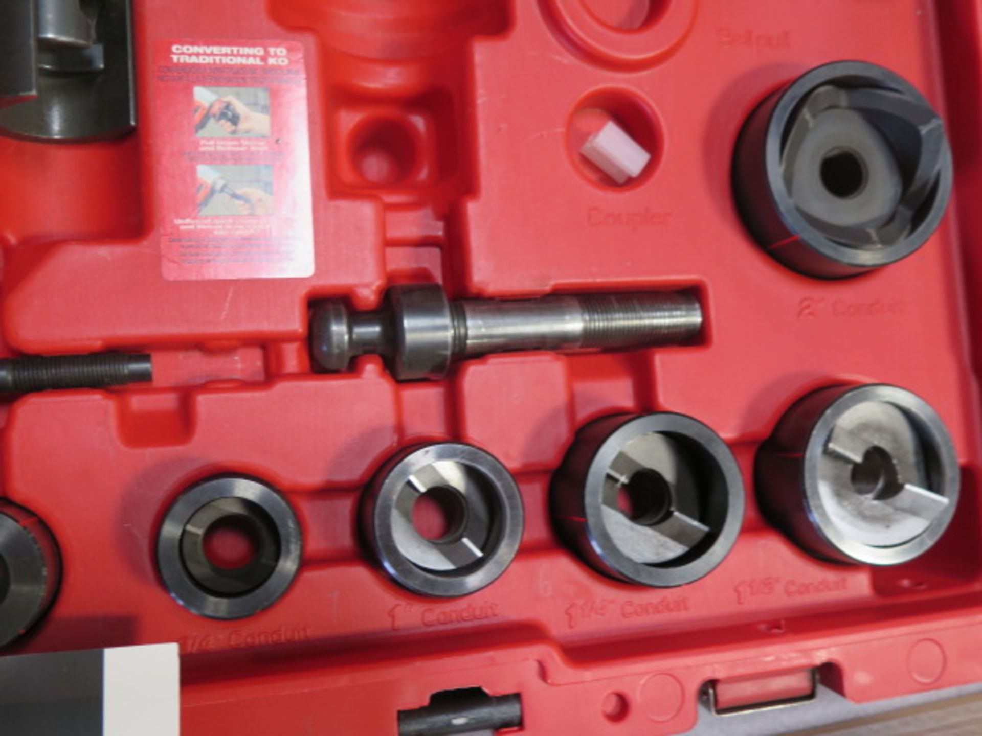 Milwaukee 18 Volt 10-Ton Knockout Tool Punch Set (SOLD AS-IS - NO WARRANTY) - Image 4 of 6