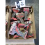 """Milwaukee 18 Volt 1/4"""" Nut Drivers (6) (SOLD AS-IS - NO WARRANTY)"""