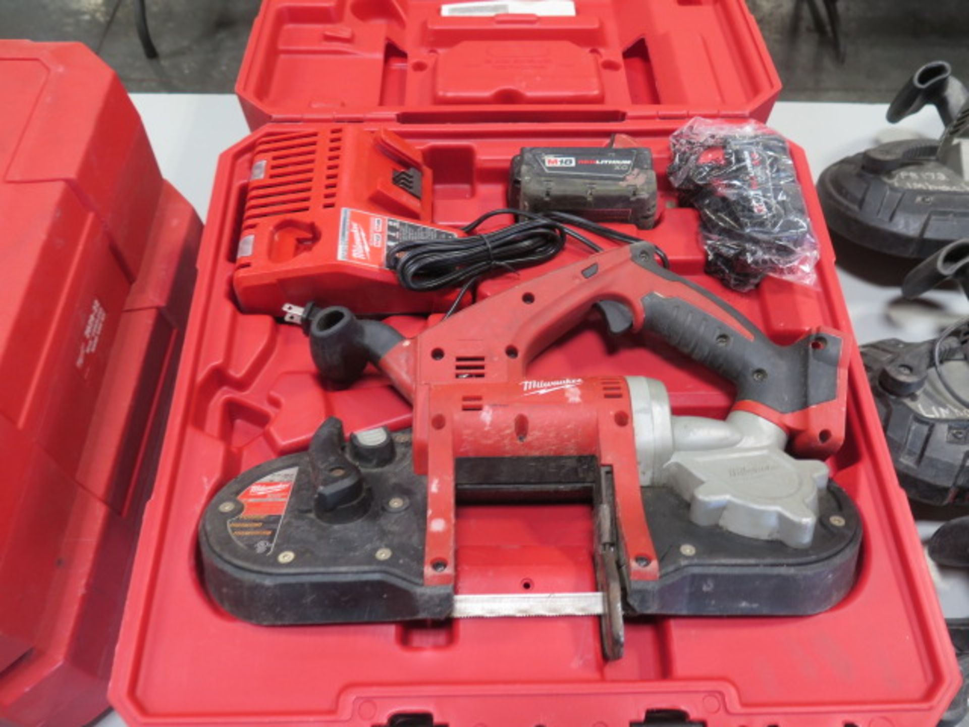 Milwaukee 18 Volt Compact Portable Band Saw Sets (2) (SOLD AS-IS - NO WARRANTY) - Image 2 of 10