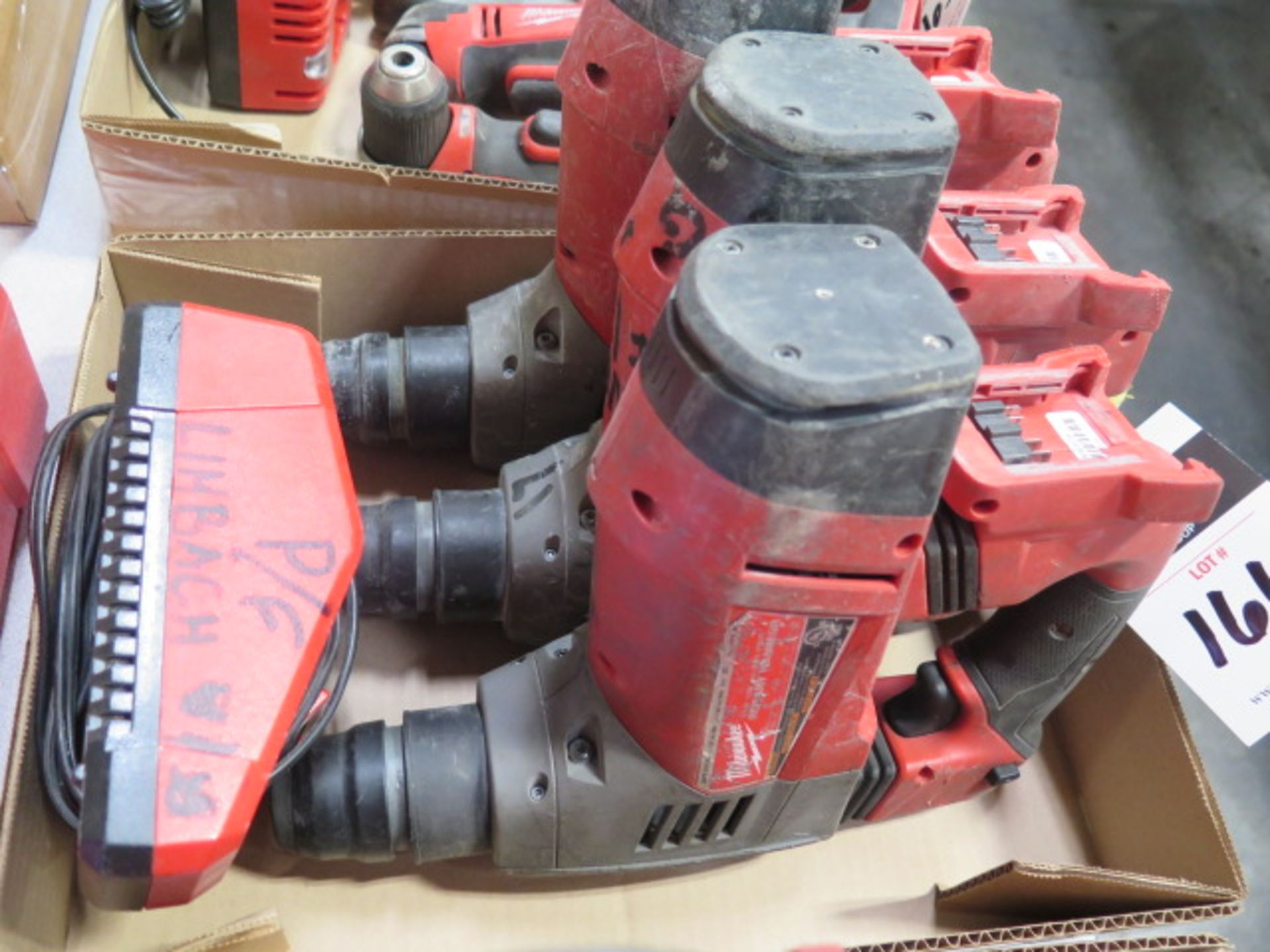 """Milwaukee 18 Volt 1 1/8"""" Rotary Hammers (3) (SOLD AS-IS - NO WARRANTY) - Image 4 of 5"""