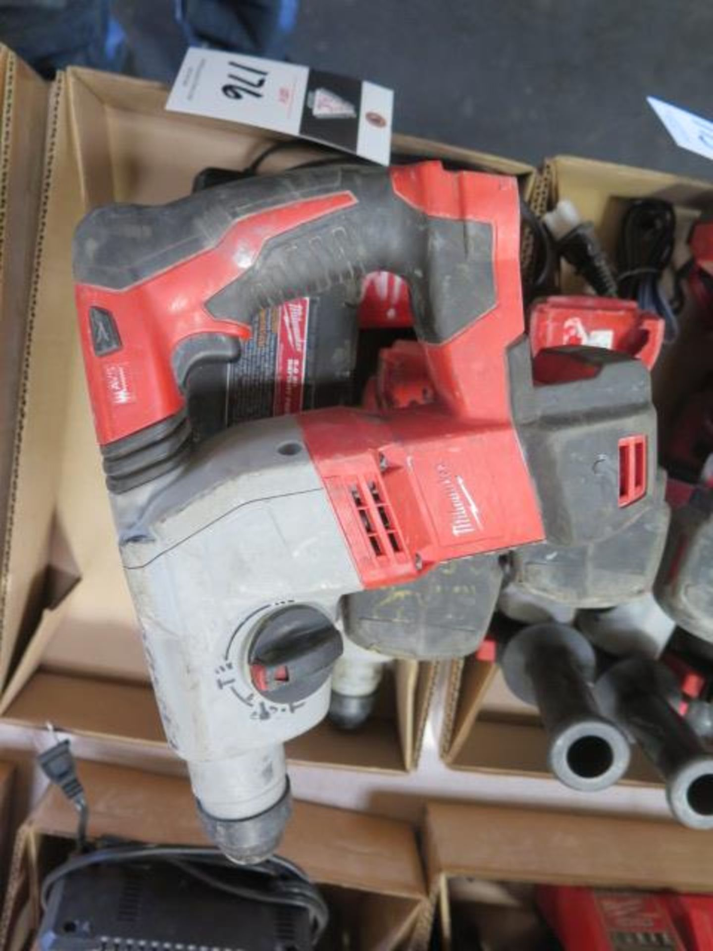 Milwaukee 18 Volt Rotary Hammers (3) (SOLD AS-IS - NO WARRANTY) - Image 4 of 5