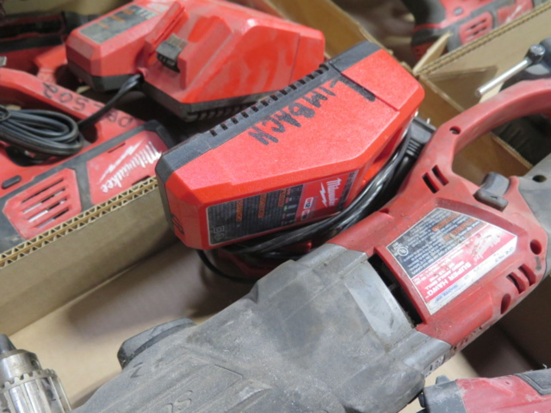 """Milwaukee 18 Volt Band Saw, """"Super Hawg"""" Angle Drill and Angle Grinder (3) (SOLD AS-IS - NO - Image 6 of 6"""