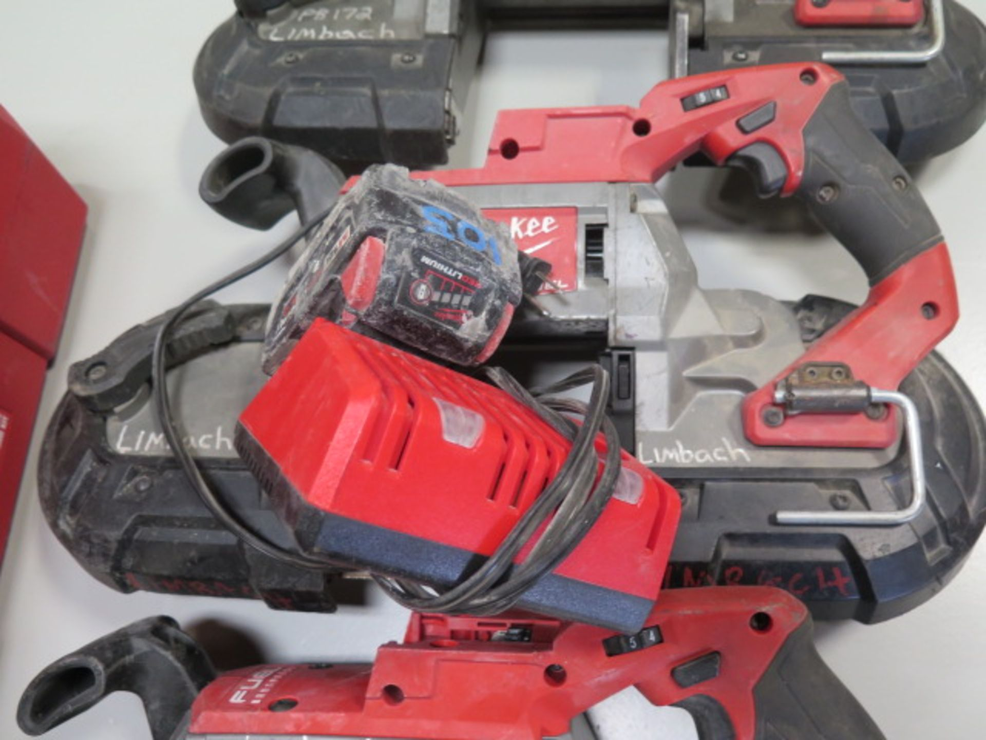 Milwaukee 18 Volt Portable Band Saws (3) (SOLD AS-IS - NO WARRANTY) - Image 4 of 7