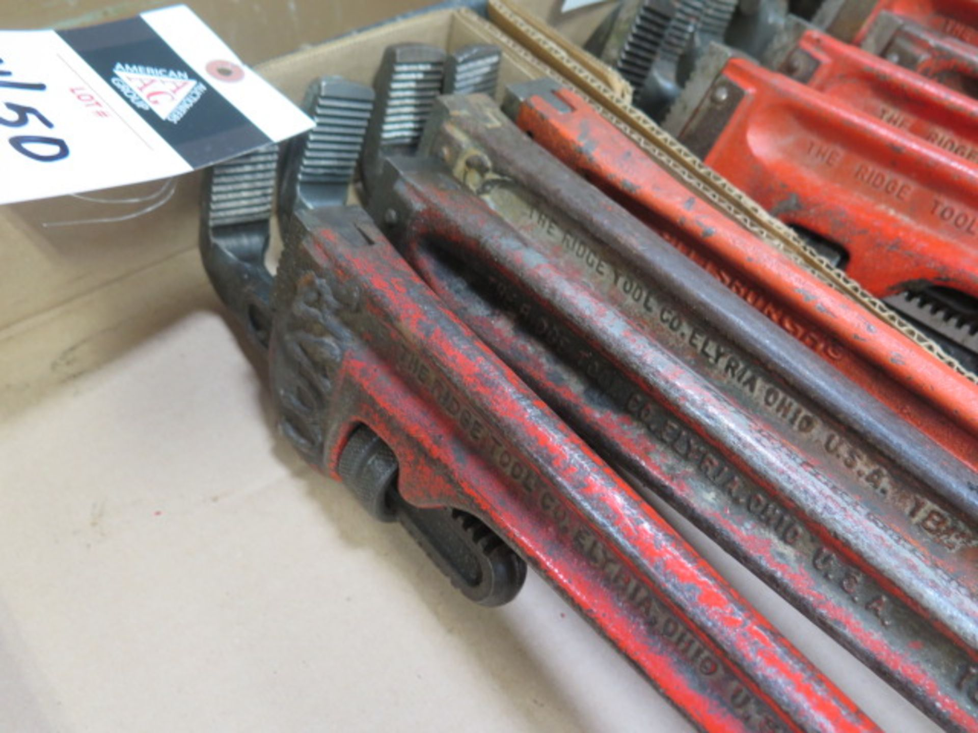 """Ridgid 18"""" and 24"""" Pipe Wrenches (10) (SOLD AS-IS - NO WARRANTY) - Image 5 of 5"""
