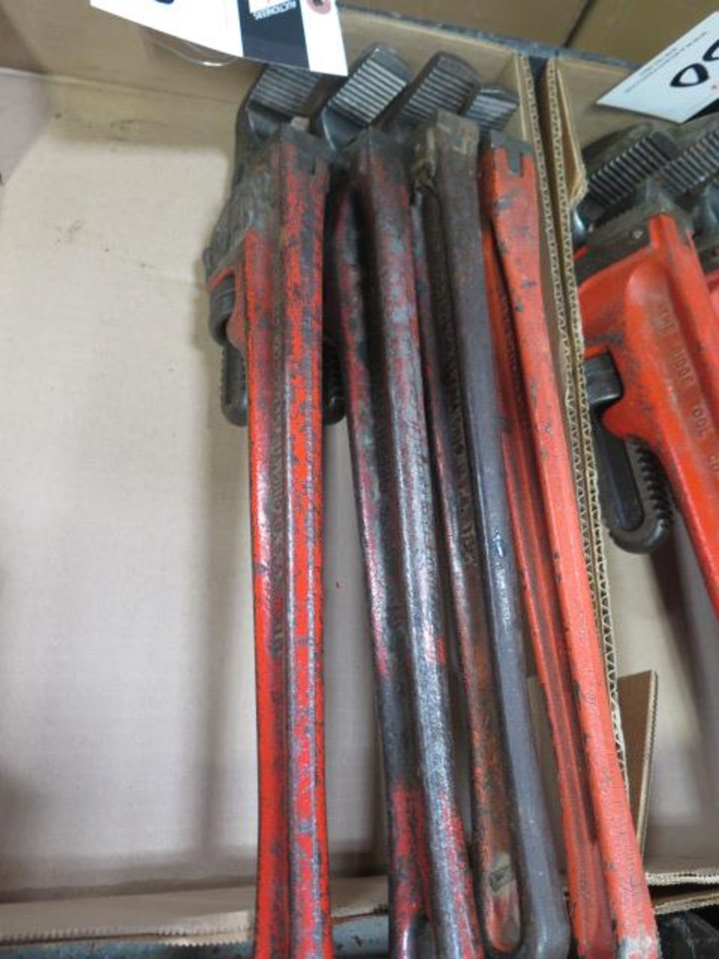 """Ridgid 18"""" and 24"""" Pipe Wrenches (10) (SOLD AS-IS - NO WARRANTY) - Image 4 of 5"""