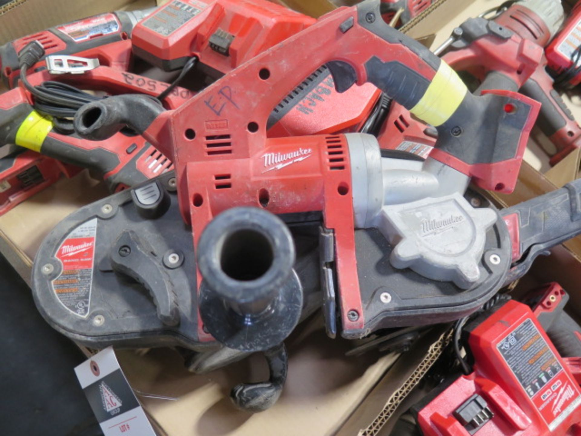 """Milwaukee 18 Volt Band Saw, """"Super Hawg"""" Angle Drill and Angle Grinder (3) (SOLD AS-IS - NO - Image 3 of 6"""