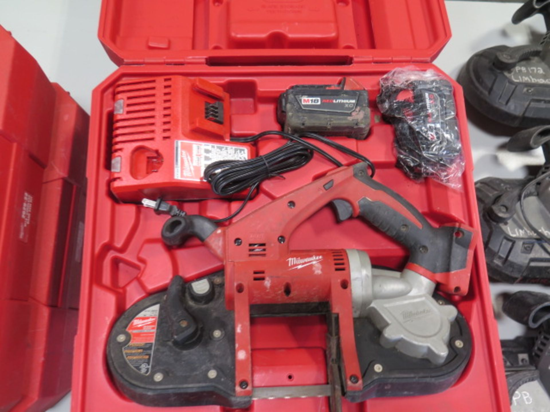 Milwaukee 18 Volt Compact Portable Band Saw Sets (2) (SOLD AS-IS - NO WARRANTY) - Image 3 of 10
