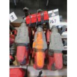 """Milwaukee 18 Volt 1"""" Rotary Hanners (3) w/ Dust Extractors (SOLD AS-IS - NO WARRANTY)"""