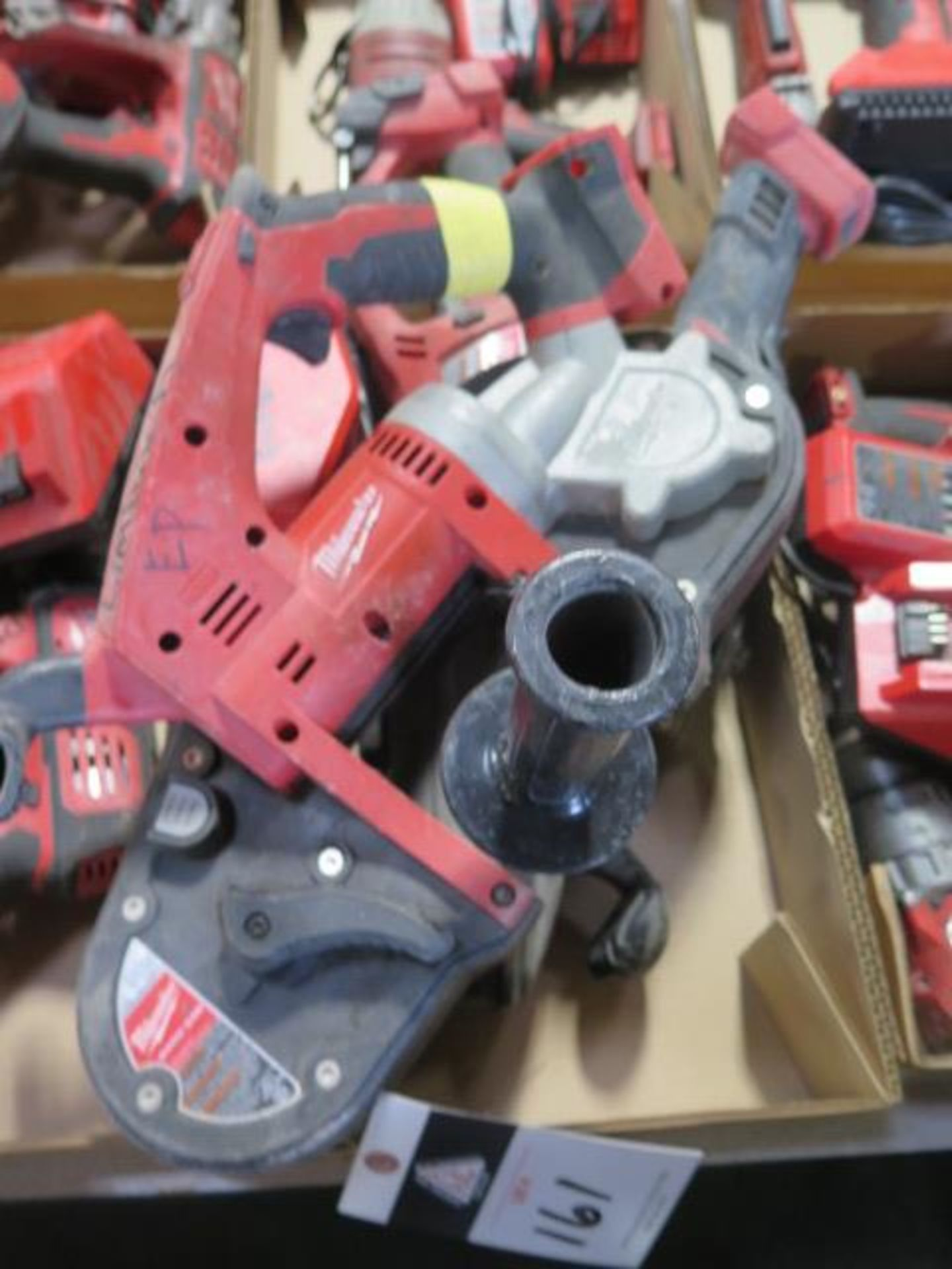 """Milwaukee 18 Volt Band Saw, """"Super Hawg"""" Angle Drill and Angle Grinder (3) (SOLD AS-IS - NO - Image 2 of 6"""