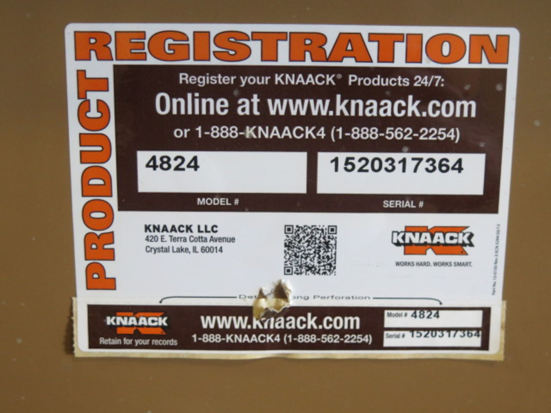 Knaack 4824 Rolling Job Box w/ 240V Extension Cords (SOLD AS-IS - NO WARRANTY) - Image 7 of 7