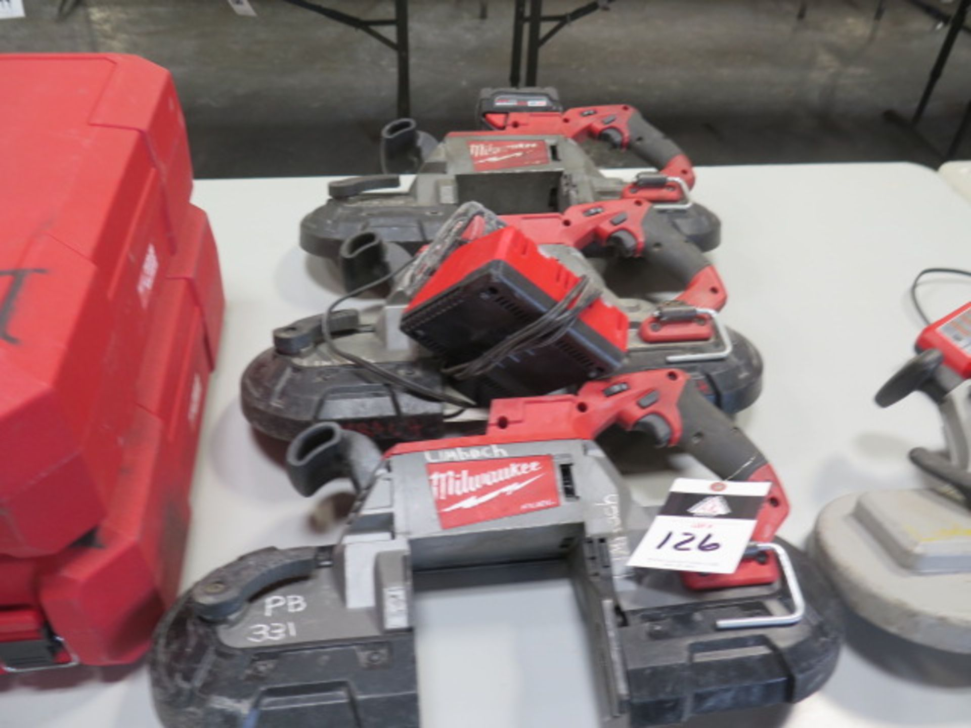 Milwaukee 18 Volt Portable Band Saws (3) (SOLD AS-IS - NO WARRANTY)