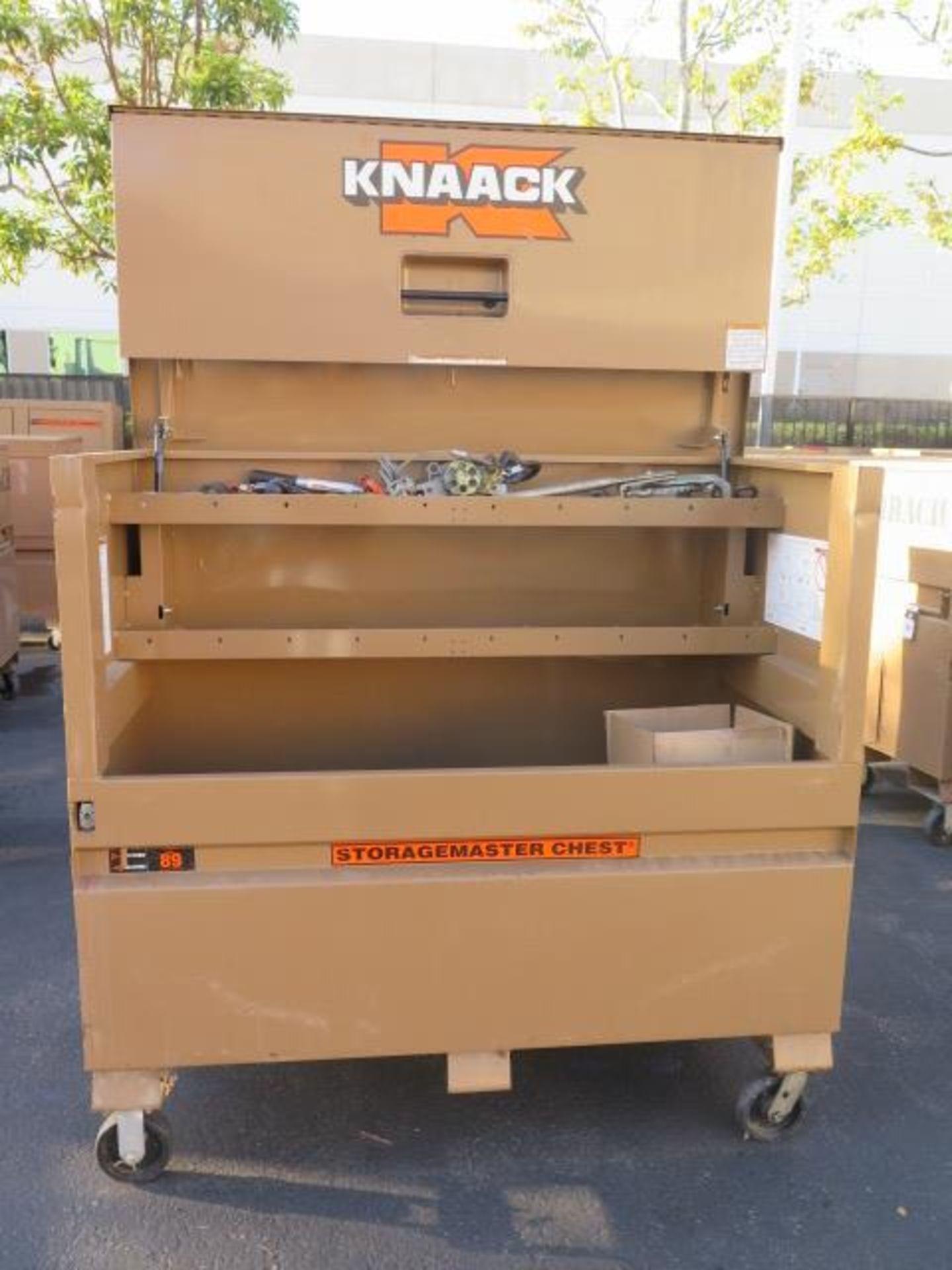 Knaack mdl. 89 Storagemaster Rolling Job Box w/ Come-Alongs (SOLD AS-IS - NO WARRANTY) - Image 4 of 12