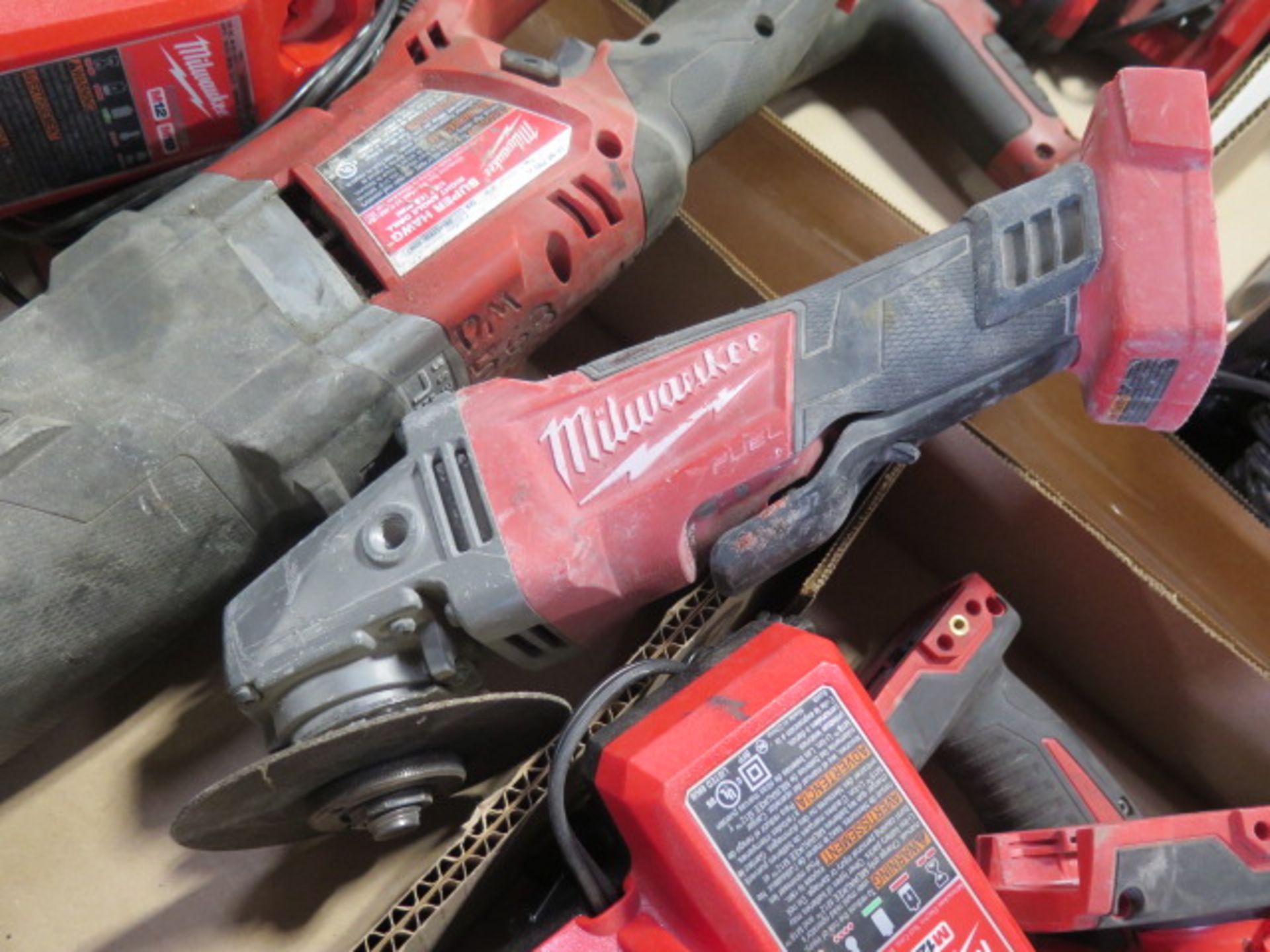 """Milwaukee 18 Volt Band Saw, """"Super Hawg"""" Angle Drill and Angle Grinder (3) (SOLD AS-IS - NO - Image 5 of 6"""