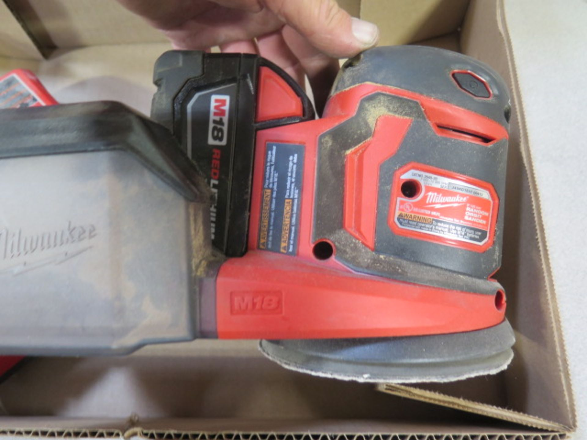 Milwaukee 18 Volt Orbital Sander w/ Charger (SOLD AS-IS - NO WARRANTY) - Image 3 of 6