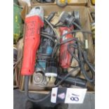 Milwaukee and Makita Angle Grinders (3) (SOLD AS-IS - NO WARRANTY)