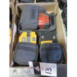 Hilti PM2-P Plumb Laser, Fluke PLS 5G 5-Point Laser Level and Fluke PLS 4 4-Point SOLD AS IS
