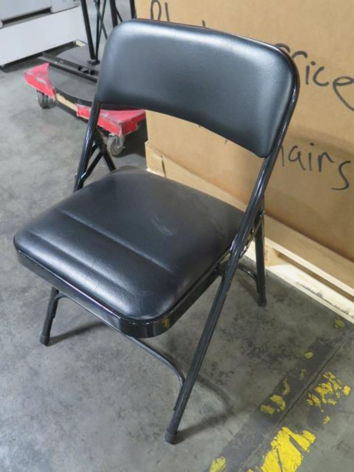 Office Folding Chairs - Black - Padded (2 Crates) (SOLD AS-IS - NO WARRANTY) - Image 2 of 9