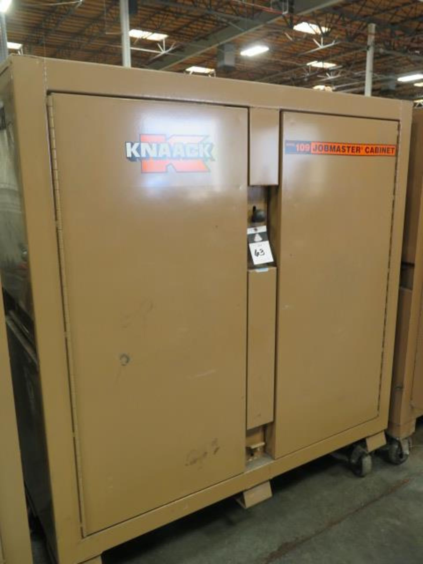 Welding Wire, Welding Guns and Misc Supplies w/ Knaack mdl. 109 Jobmaster Rolling Job Box (SOLD AS- - Image 13 of 16