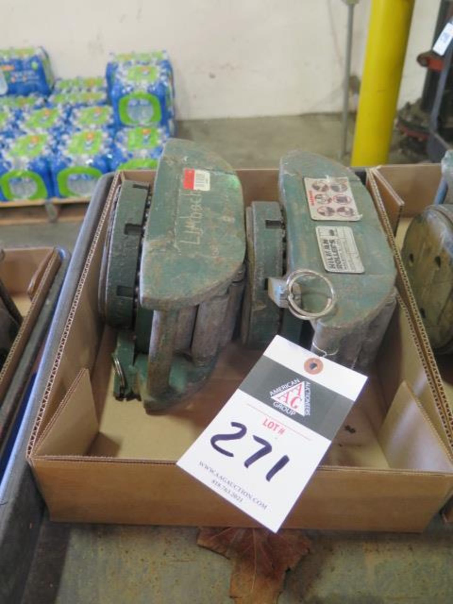 Hilman Machinery Dolleys (2) w/ Steering Bar (SOLD AS-IS - NO WARRANTY)