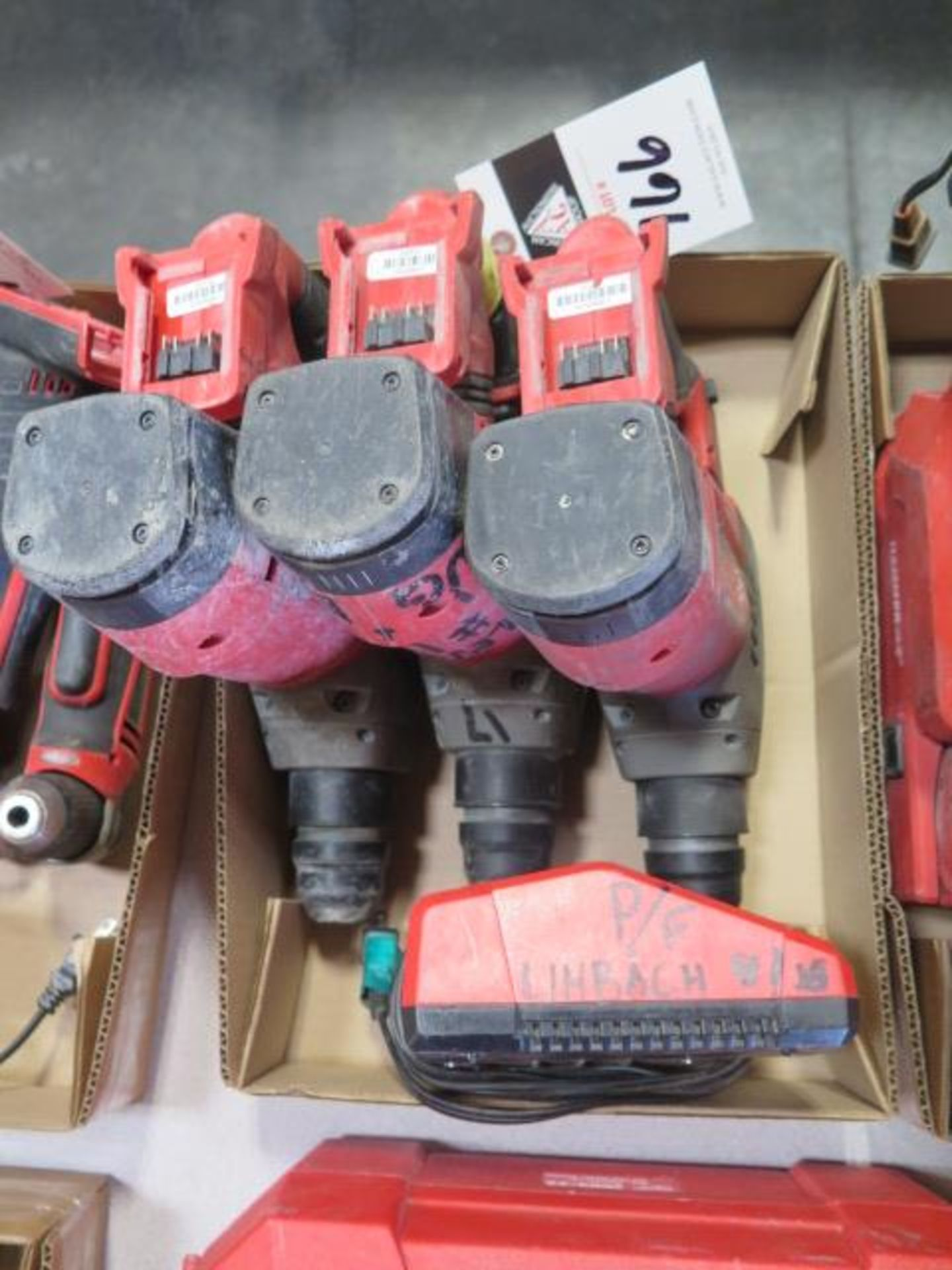 """Milwaukee 18 Volt 1 1/8"""" Rotary Hammers (3) (SOLD AS-IS - NO WARRANTY)"""