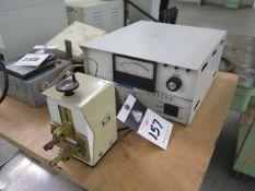 Unitek Micro Spot Welder w/ 1-128-01 Power Source, Table (SOLD AS-IS - NO WARRANTY)