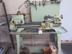 """Montgomery Wards mdl. 74TLC-213D 11"""" x 24"""" Lathe w/ Tailstock, R8 Colleted Spindle, 3-Speeds, Steady"""