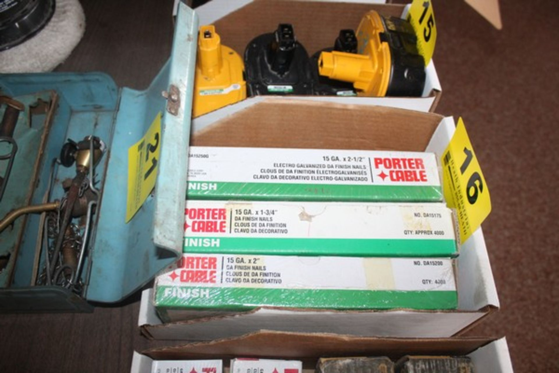 """(3) BOXES OF PORTER-CABLE 15GA X 1-3/4"""" FINISH NAILS"""