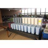 LARGE QUANTITY OF PLASTIC FILE CASES