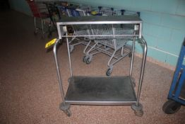 "PORTABLE CART WITH TOP SHELF, 21"" X 32"""