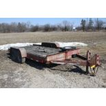 1976 WARRENVILLE 20-FT. T/A EQUIPMENT TRAILER VIN: 40565, 96-IN. X 20-FT. OVERALL, 76-IN X 15-IN.