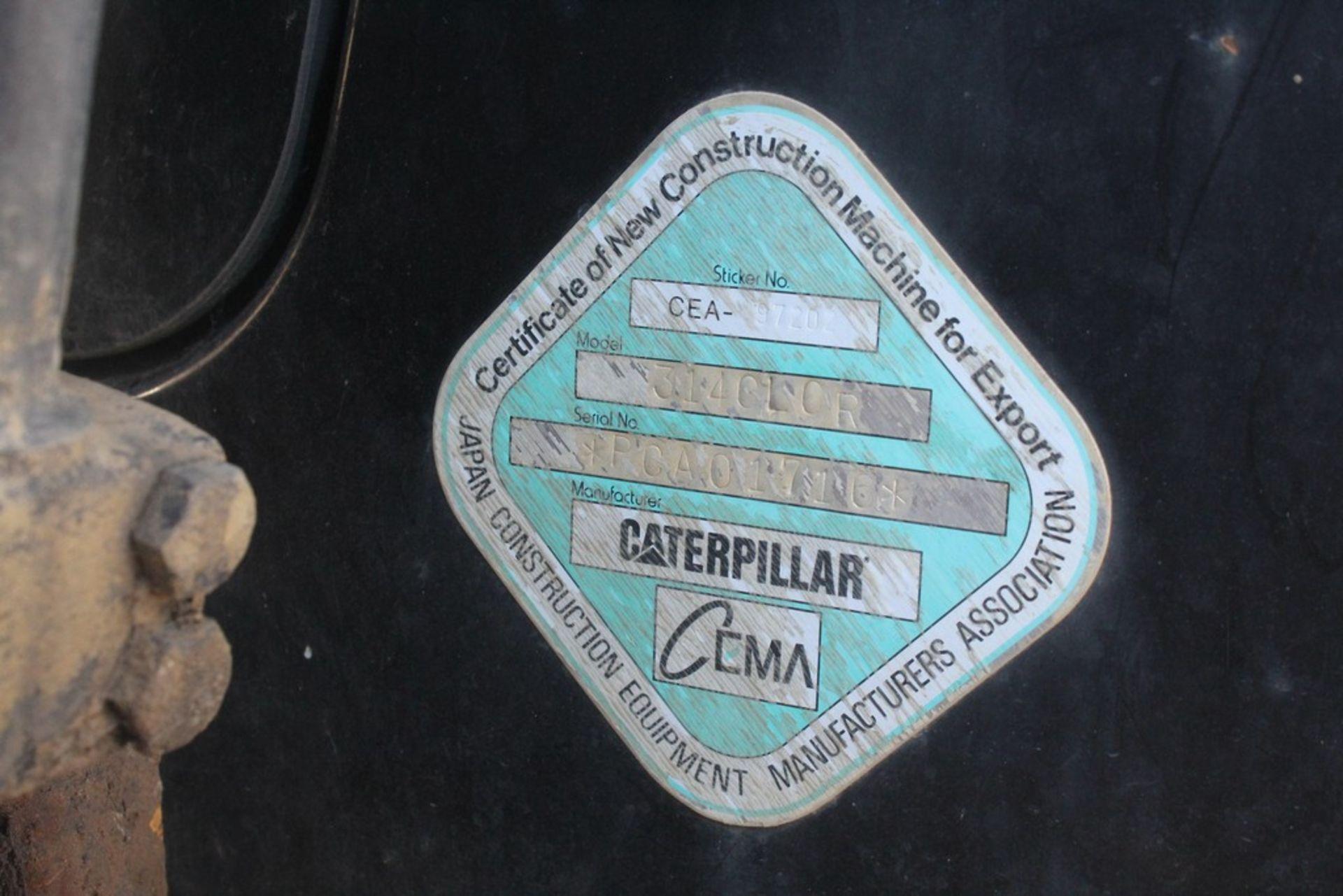 """2008 CATERPILLAR 314C LCR HYDRAULIC EXCAVATOR S/N: CAT0314CVPCA0176 (2008) 48"""" Q/C DIGGING CAT MODEL - Image 10 of 11"""