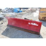 CUSTOM FABRICATED 96-IN. BOLT-TOGETHER HYDRAULIC SNOW PLOW ATTACHMENT, 96-IN. BLADE, TO FIT SKID