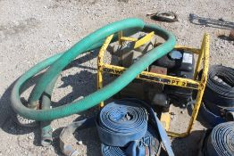 WACKER 2-IN. MODEL PT2 TRASH PUMP, WITH HONDA GX GAS ENGINE, INTAKE TUBE AND (2) DISCHARGE HOSES