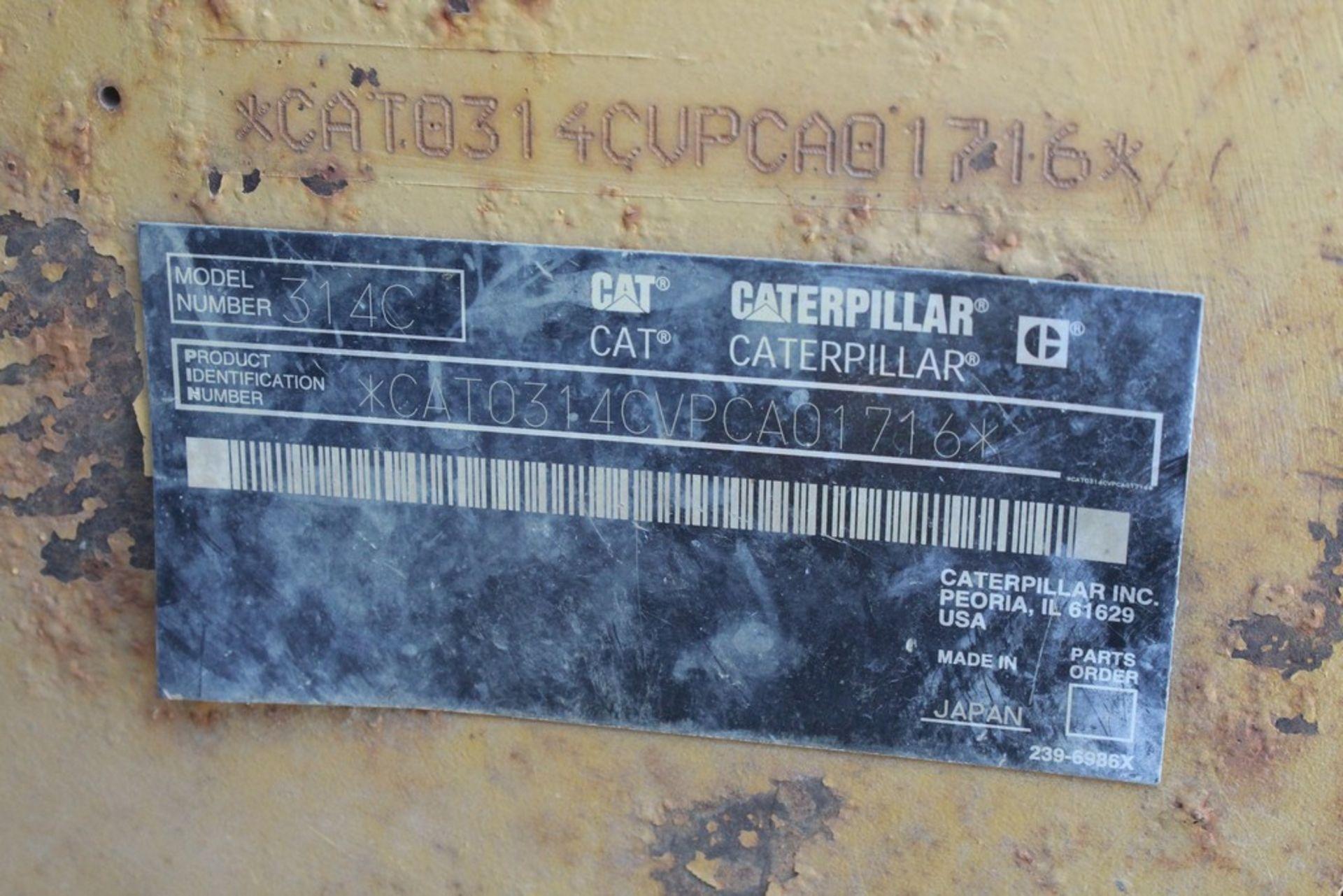 """2008 CATERPILLAR 314C LCR HYDRAULIC EXCAVATOR S/N: CAT0314CVPCA0176 (2008) 48"""" Q/C DIGGING CAT MODEL - Image 9 of 11"""