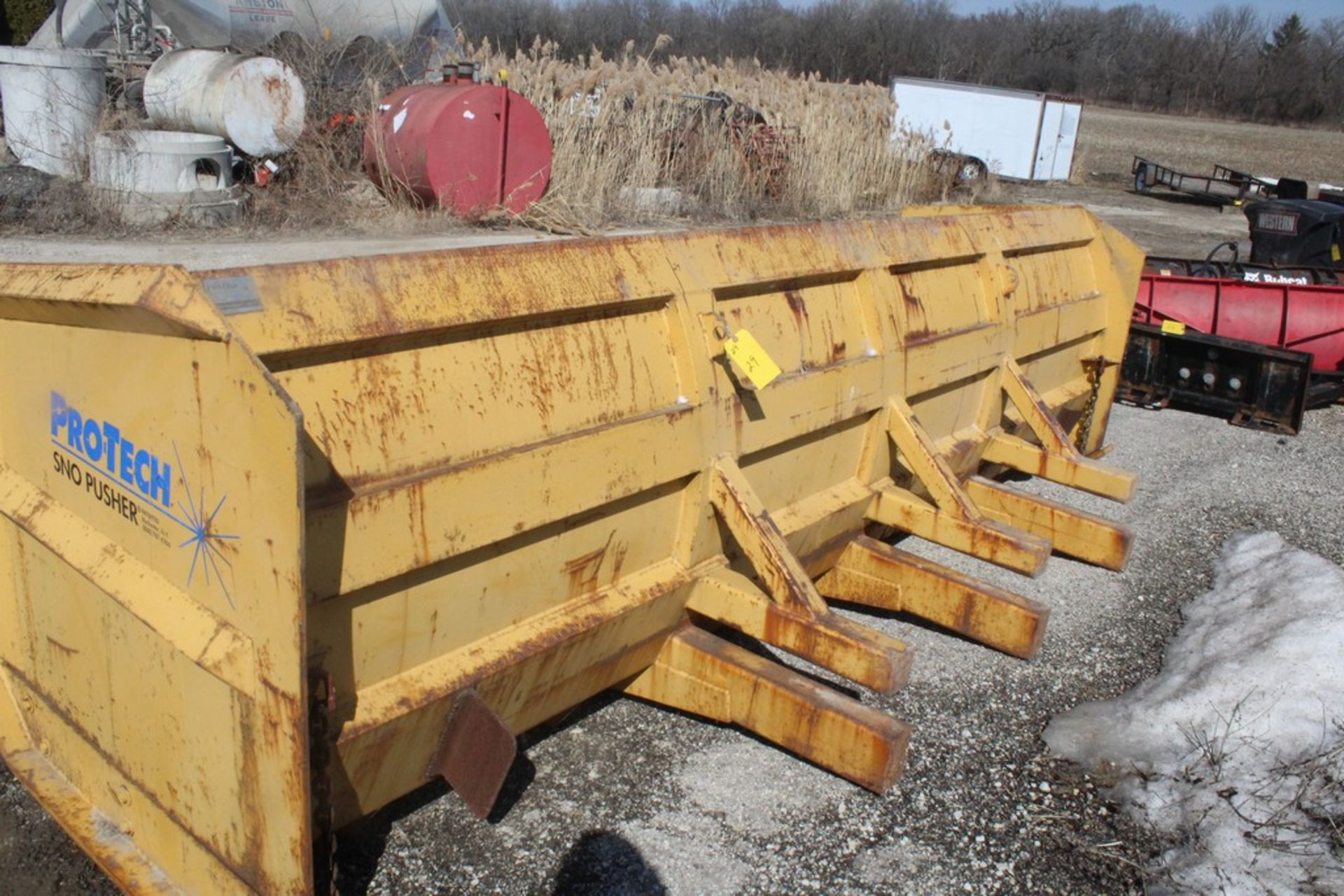 PRO-TECH 14-FT. MODEL SNO PUSHER SNOW PUSHER ATTACHMENT S/N: 3042, TO FIT WHEEL LOADER - Image 3 of 4