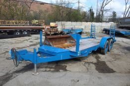 MFG. N/A 102-IN. X 24-FT. T/A EQUIPMENT TRAILER VIN: N/A, 102-IN. X 24-FT. OVERALL, 80-IN. X 18-