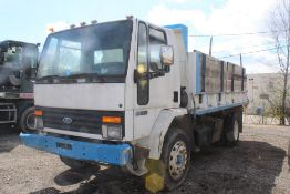 1987 FORD CARGO 7000 16-FT. CONTRACTORS DUMP TRUCK VIN: 9BFXH70P6HDM00913, 6-CYL. DIESEL, MANUAL,