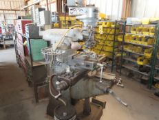 BRIDGEPORT VERTICAL MILL, POWER FEED, CLAMP KIT, R8 COLLETS, MILL VISE, PIPE VISE, SN. 69627