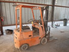 TOYOTA MDL. O2 FGC10 2000# FORKLIFT, GAS, SOLID TIRE, SN. FGC10 11344